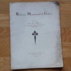 Libros: RELICARIO MONUMENTAL DE GALICIA , JOSÉ CAO MOURE ,. Lote 175611618