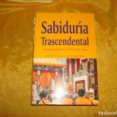 Libros: SABIDURIA TRASCENDENTAL. TENSING GYATSO, EL XIV DALAI LAMA. EDC. DHARMA, 1ª EDC. 1998. Lote 176845287