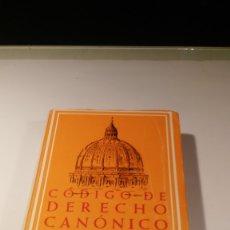 Libros: DERECHO CANÓNICO POSCONCILIAR. SUPLEMENTO AL CÓDIGO DE DERECHO CANÓNICO BILINGÜE DE LA BAC. Lote 179077943