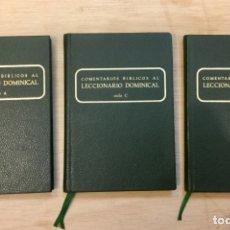 Libros: COMENTARIOS BÍBLICOS AL LECCIONARIO DOMINICAL. 3 VOLUMENES. NUEVO REF: AX457. Lote 180878507