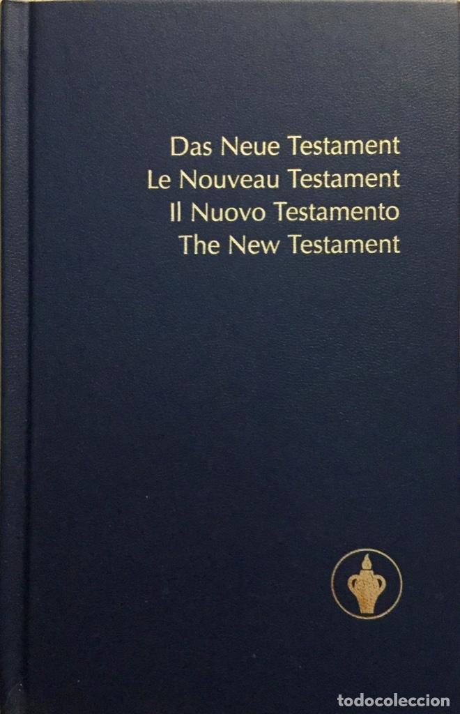EL NUEVO TESTAMENTO. EN CUATRO IDIOMAS. REF: AX468 (Libros Nuevos - Humanidades - Religión)