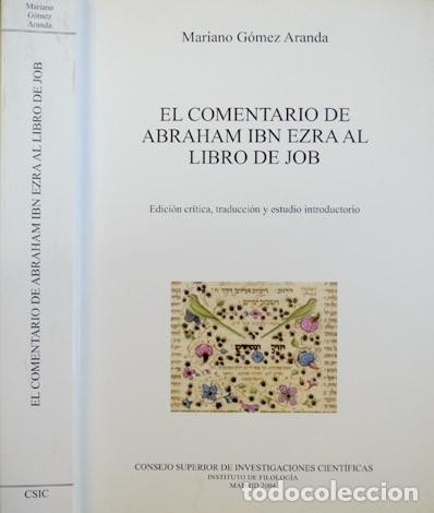 EL COMENTARIO DE ABRAHAM IBN EZRA AL LIBRO DE JOB. 2004. (Libros Nuevos - Humanidades - Religión)