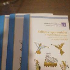 Libros: FOLLETO CANTO SALMOS CALENDARIO LITÚRGICO 19 20, DOS AGENDAS 2020, 2019 Y 2018. Lote 186375445