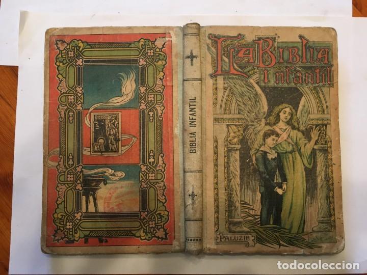 LIBRO ANTIGUO LA BIBLIA INFANTIL DE 1918 DE M.R.P.RAMON BULDU (Libros Nuevos - Humanidades - Religión)