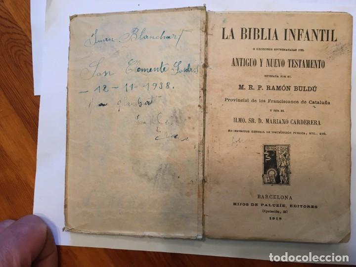 Libros: libro antiguo la biblia infantil de 1918 de M.R.P.RAMON BULDU - Foto 6 - 191482151