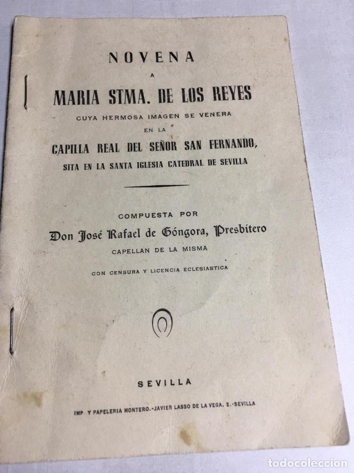 NOVENA - MARIA STMA DE LOS REYES - COMPUESTA POR DON JOSE RAFAEL DE GONGORA (Libros Nuevos - Humanidades - Religión)