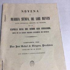 Libros: NOVENA - MARIA STMA DE LOS REYES - COMPUESTA POR DON JOSE RAFAEL DE GONGORA. Lote 193217013