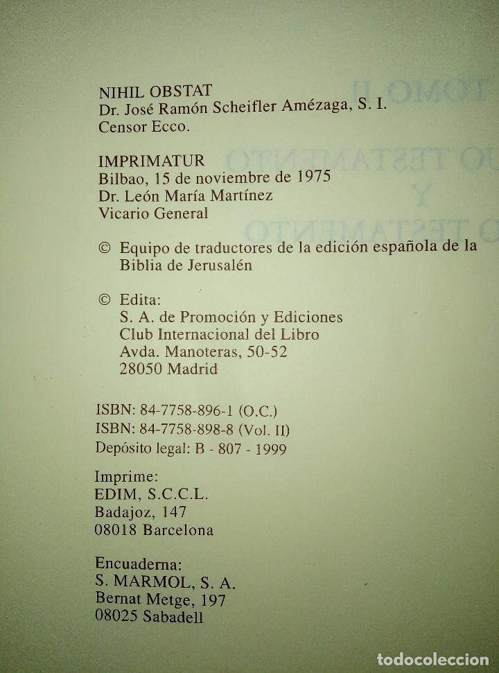 Libros: LA BIBLIA DE JERUSALEN COMPLETA 2 TOMOS ILUSTRADA POR GUSTAVO DORÈ EDICION DE LUJO. - Foto 2 - 193733326