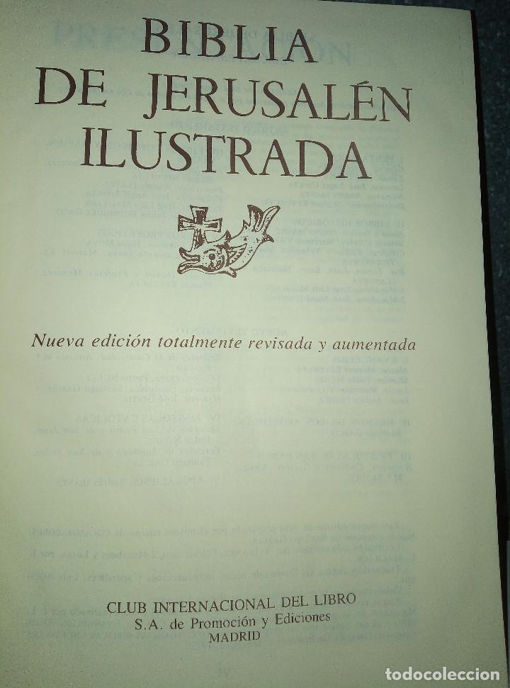 Libros: LA BIBLIA DE JERUSALEN COMPLETA 2 TOMOS ILUSTRADA POR GUSTAVO DORÈ EDICION DE LUJO. - Foto 3 - 193733326