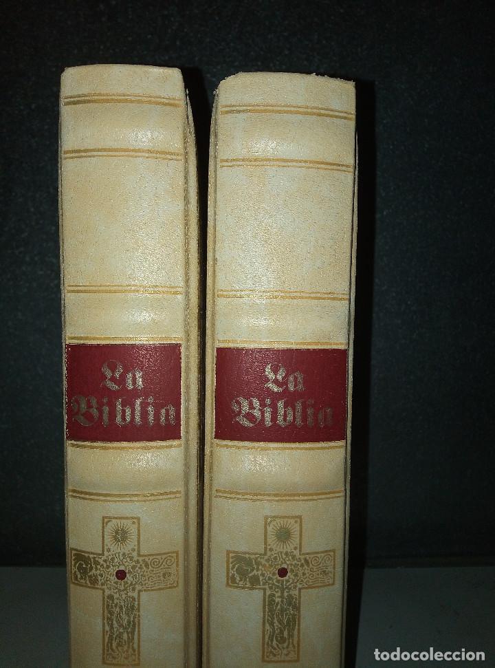 Libros: LA BIBLIA DE JERUSALEN COMPLETA 2 TOMOS ILUSTRADA POR GUSTAVO DORÈ EDICION DE LUJO. - Foto 5 - 193733326