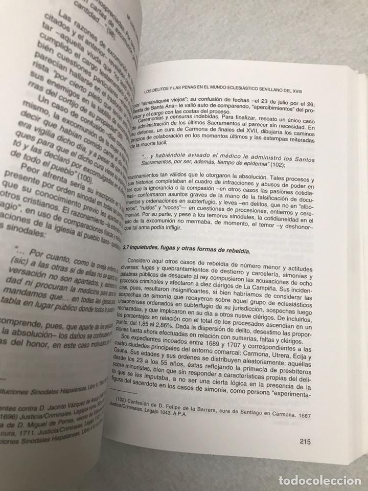 """Libros: LIBRO. SEVILLA. """"LOS DELITOS Y LAS PENAS EN EL MUNDO ECLESIÁSTICO SEVILLANO DEL XVIII"""" - Foto 6 - 193973828"""