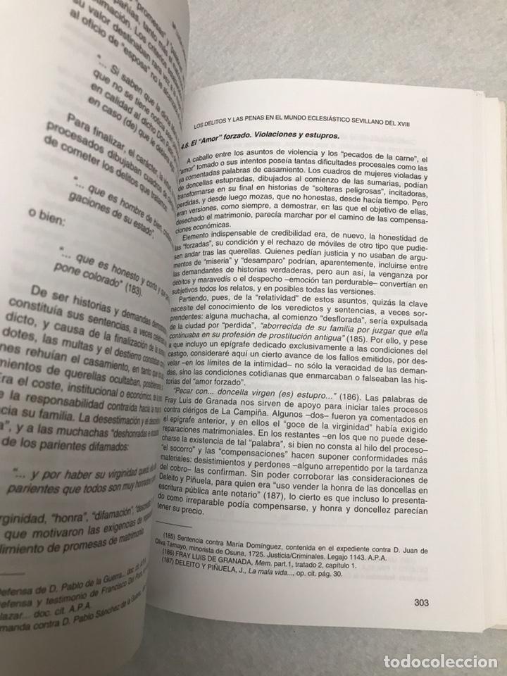 """Libros: LIBRO. SEVILLA. """"LOS DELITOS Y LAS PENAS EN EL MUNDO ECLESIÁSTICO SEVILLANO DEL XVIII"""" - Foto 8 - 193973828"""