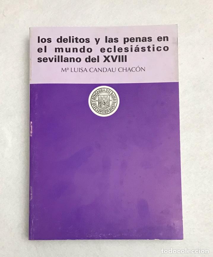 """LIBRO. SEVILLA. """"LOS DELITOS Y LAS PENAS EN EL MUNDO ECLESIÁSTICO SEVILLANO DEL XVIII"""" (Libros Nuevos - Humanidades - Religión)"""