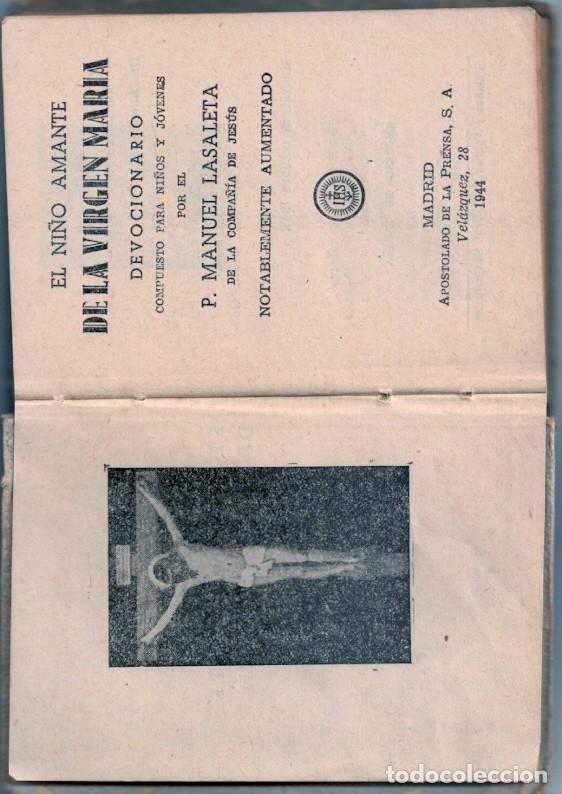 Libros: LIBRITO RELIGIOSO: EL NIÑO AMANTE DE LA VIRGEN MARIA - Foto 2 - 194155217