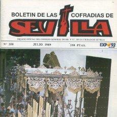 Libri: BOLETIN DE LAS COFRADIAS DE SEVILLA Nº 358 JULIO 1989. Lote 194995271