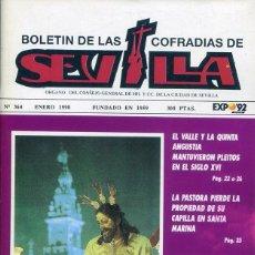 Libros: BOLETIN DE LAS COFRADIAS DE SEVILLA Nº 364 ENERO 1990. Lote 194995566