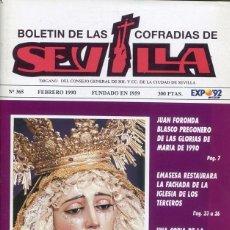 Libros: BOLETIN DE LAS COFRADIAS DE SEVILLA Nº 366 FEBRERO 1990. Lote 194995613