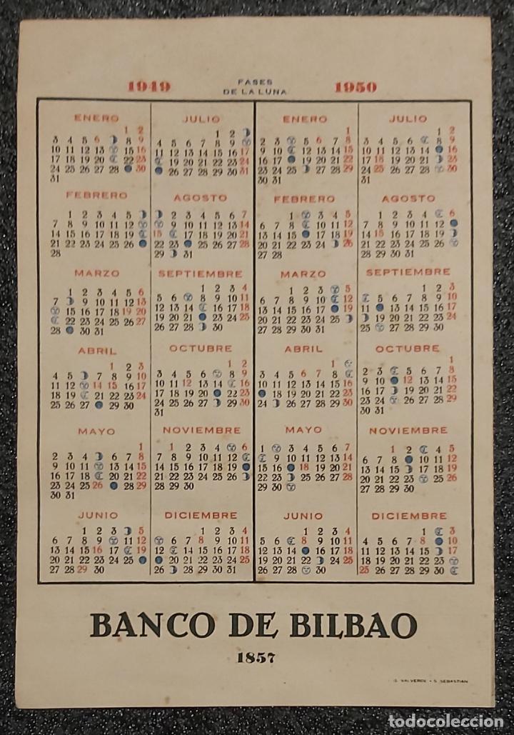 Libros: Calendario Banco de Bilbao. Años 1949 y 1950. No Fournier. - Foto 2 - 209727451