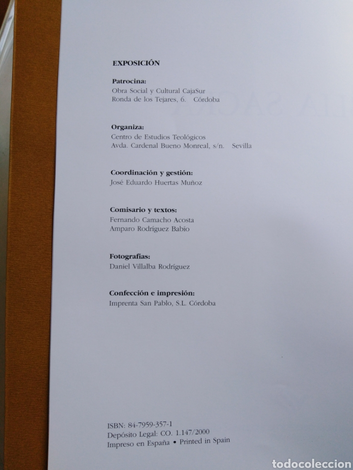 Libros: Biblia sacra ( caja Sur publicaciones ) - Foto 3 - 212082927
