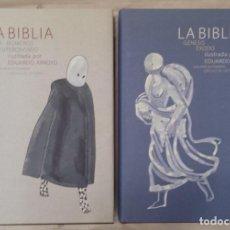 Libri: LA BIBLIA EDUARDO ARROYO CÍRCULO DE LECTORES 2004 2 TOMOS COMPLETA. Lote 213917017