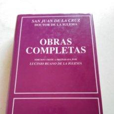 Libros: OBRAS COMPLETAS SAN JUAN DE LA CRUZ. Lote 216779935