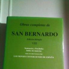 Libros: SAN BERNARDO. OBRAS COMPLETAS VII. BIBLIOTECA DE AUTORES CRISTIANOS. 1993. Lote 221611301