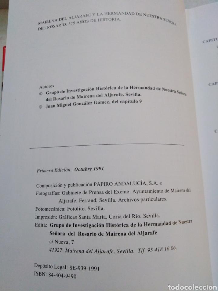 Libros: Mairena del aljarafe y la hermandad de nuestra señora del rosario, 375 años de historia - Foto 5 - 223152757