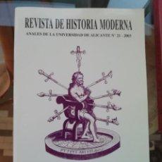 Libros: IGLESIA Y RELIGIOSIDAD TOMO ESPECIAL DE LA REVISTA DE HISTORIA MODERNA. Lote 225323920