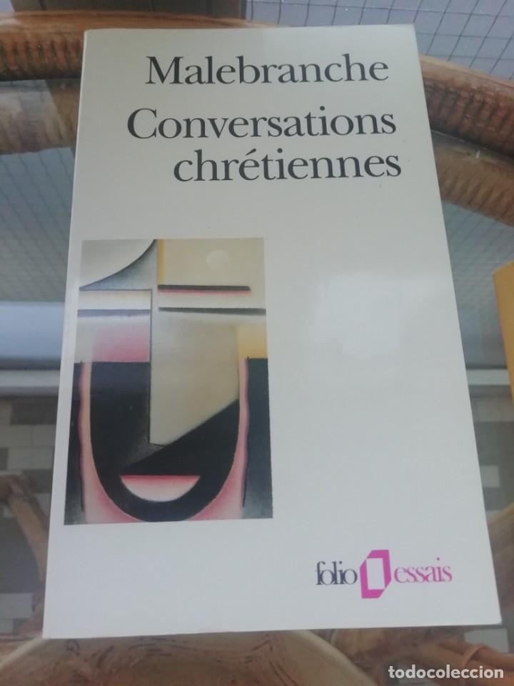 CONVERSATIONS CHRÉTIENNES DE MALEBRANCHE EN FRANCÉS (Libros Nuevos - Humanidades - Religión)