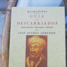 Libros: GUIA DE DESCARRIADOS POR MAIMÓNIDES. Lote 226273066