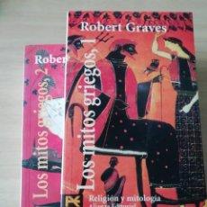 Libros: LOS MITOS GRIEGOS POR ROBERT GRAVES EN DOS TOMOS. Lote 226794885