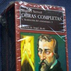 Livres: RESTITUCIÓN DEL CRISTIANISMO, 1 Y 2( 2 TOMOS, OBRA COMPLETA), DE MIGUEL SERVET VOLS V-VI- PRECINTADO. Lote 241818810