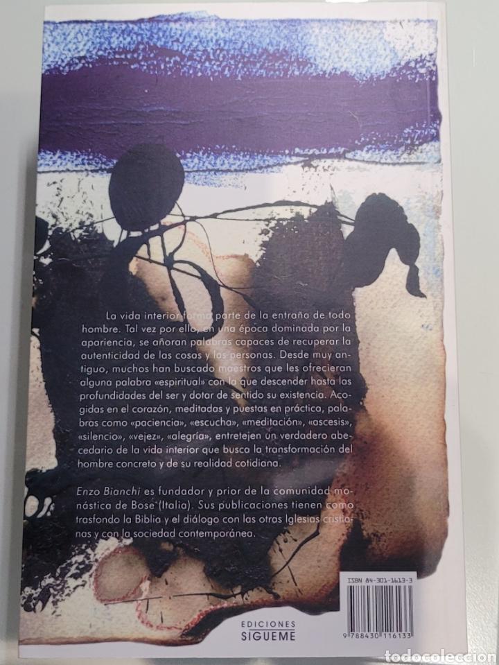 Libros: Palabras de la vida interior. Enzo Bianchi. - Foto 2 - 255554350