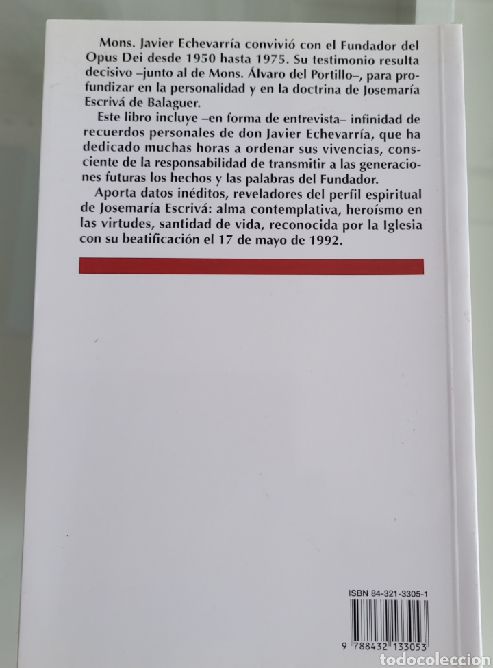Libros: Memoria del beato José Maria Escrivá. Javier Echevarria. - Foto 2 - 257383535