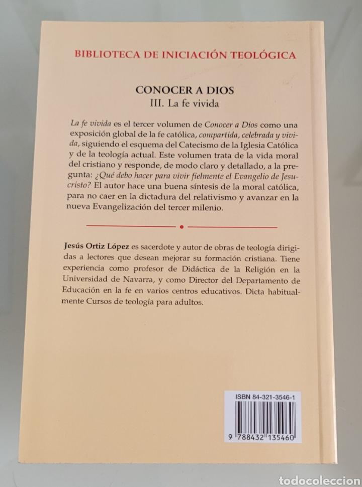 Libros: Conocer a Dios. Jesús Ortiz López - Foto 2 - 257391710