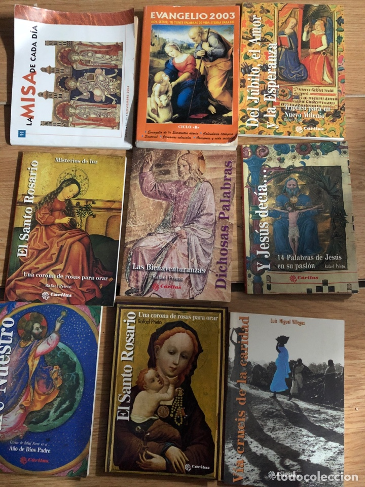 GRAN LOTE LIBROS CATOLICOS MISALES ROSARIOS BIBLIA VER FOTOS (Libros Nuevos - Humanidades - Religión)