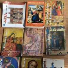 Libros: GRAN LOTE LIBROS CATOLICOS MISALES ROSARIOS BIBLIA VER FOTOS. Lote 260330725