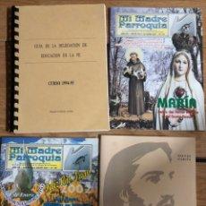 Libros: LOTE LIBROS RELIGIOSOS GUIA DE LA FE BIBLIA EVENGELIO PARROQUIA. Lote 260331090