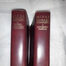 Libros: MISAL ROMANO COMPLETO I ADVIENTO DE PASCUA Y II TIEMPO ORDINARIO. Lote 262025125