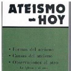 Libros: MONS. JOSÉ GUERRA CAMPOS - ATEISMO - HOY. Lote 262058325