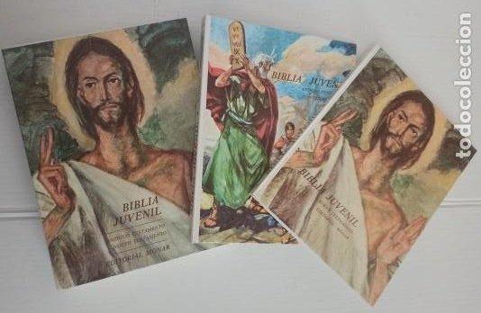 BIBLIA JUVENIL - TOMO 1 ANTIGUO TESTAMENTO. TOMO 2 NUEVO TESTAMENTO - EXCELENTE ESTADO (Libros Nuevos - Humanidades - Religión)