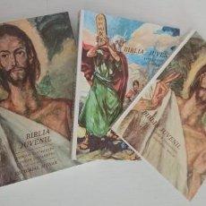 Libros: BIBLIA JUVENIL - TOMO 1 ANTIGUO TESTAMENTO. TOMO 2 NUEVO TESTAMENTO - EXCELENTE ESTADO. Lote 265668644