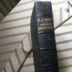 Libros: DEVOCIONARIO PIEDAD CRISTIANA, P.J.QUIBUS. AÑO 1958. 7º EDICIÓN. LOMO DORADO. Lote 269678358