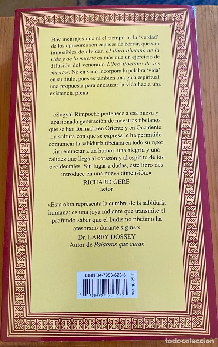Libros: El Libro Tibetano de la Vida y de la Muerte - Foto 2 - 276748848