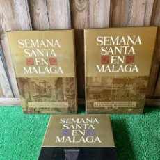 Libros: SEMANA SANTA EN MALAGA. 3 TOMOS. EDITORIAL ARGUVAL. Lote 293604473