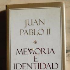 Libros: MEMORIA E IDENTIDAD. Lote 295423078