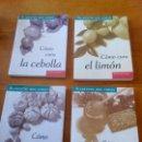 Libros: LIBRO ALIMENTOS QUE CURAN. COLECCION 4 LIBROS. CIRCULO DE LECTORES.CEBOLLA, LIMÓN, AJO, MIEL.. Lote 80070923