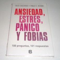 Libros: ANSIEDAD, ESTRES, PANICO Y FOBIAS POR ENZO CASCARDO. Lote 98452687