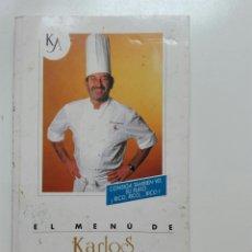 Libros: EL MENÚ DE KARLOS ARGUIÑANO. Lote 104691008