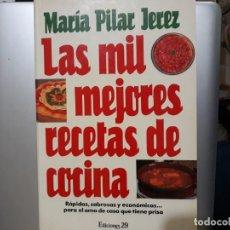 Libros: LAS MIL MEJORES RECETAS DE COCINA. Lote 147338962